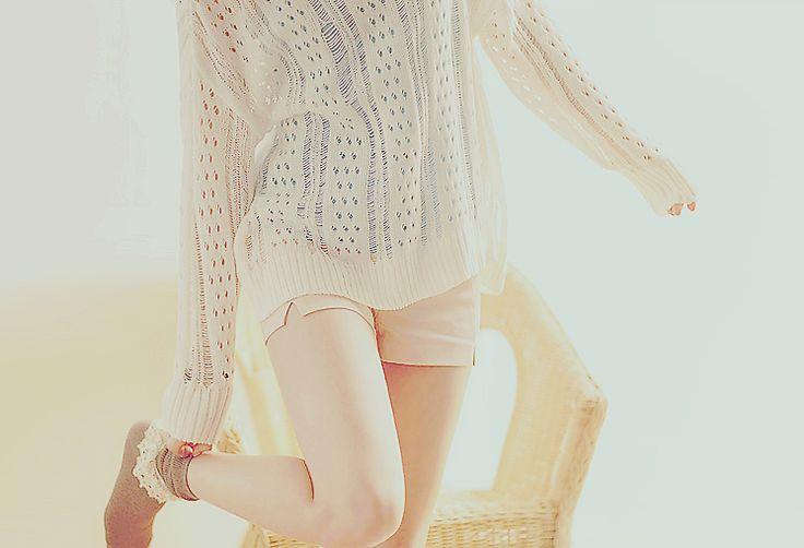Korean Style- Blush pink sweater look #korean #style #sweater #school #blush #pink: