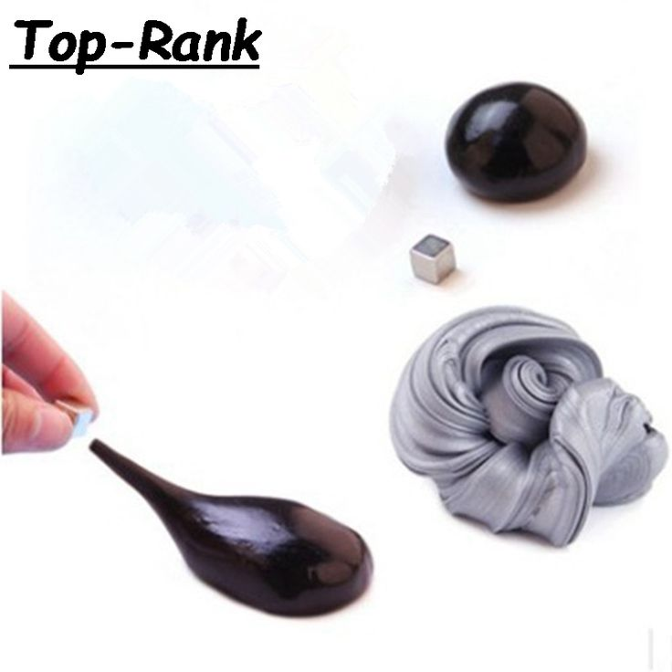 6 colors Magnetic Rubber Mud Hand Gum Silly Putty Magnet Clay Plasticine Ferrofluid Handmade DIY Playdough adult toys kids gifts
