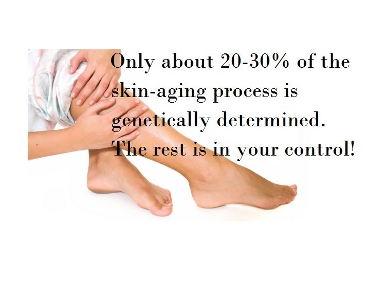 Care more for your skin.  You have control over how you age!!