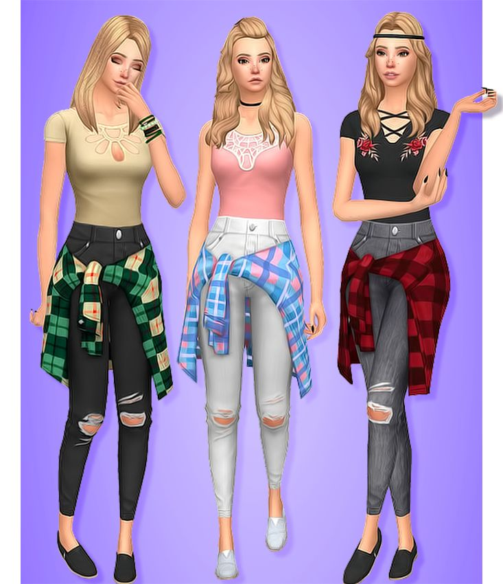 Whistle Skinnies • BGC • 16 Swatches • These are the jeans from Parenthood made into skinny jeans and I think they turned out super cute • Custom thumbnail • Named after the iconic Blackpink song...