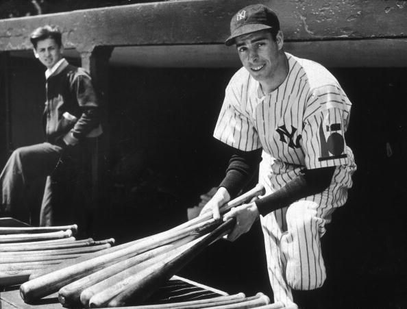 Joe DiMaggio hit safely in a record-setting 56 straight games.