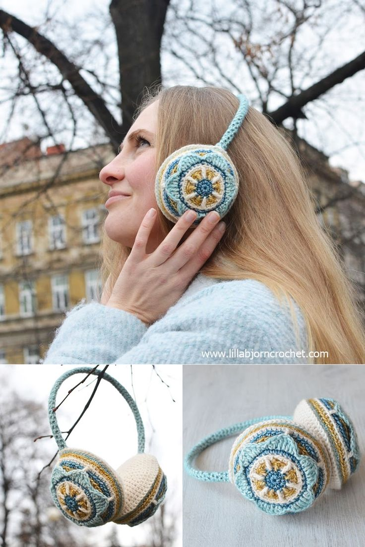 Floral Ear Muffs: Free Crochet Pattern | LillaBjörn's Crochet World