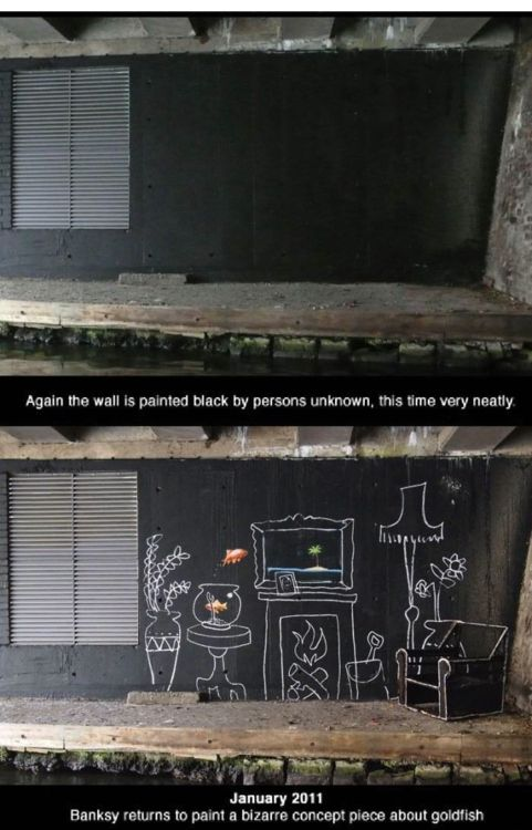 <b>A long-running rivalry between graffiti artists Banksy and King Robbo was played out on a London wall over the span of several years.</b> It had an incredibly poignant ending.