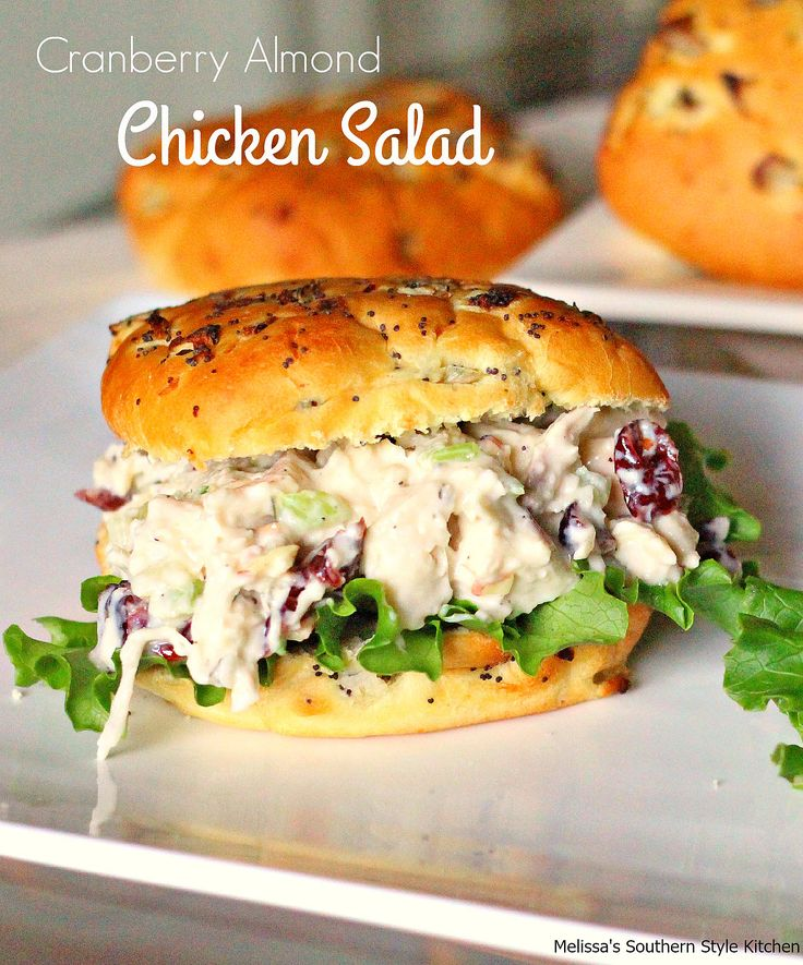 Perfect any time of year Cranberry Almond Chicken Salad
