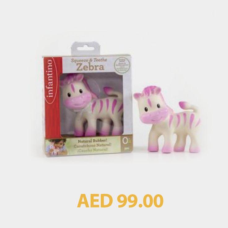 Infantino Squeeze & Teethe Zebra #kids #toys #games #toystore #kidstore #online #shopping #menakart #kidsactivityset