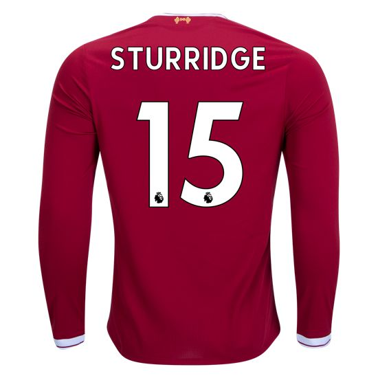 17/18 New Balance Liverpool Daniel Sturridge #15 Long Sleeve Home Jersey