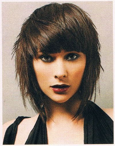 hair styles for thin hair and shaggy edgy inverted bob search haircuts 8319