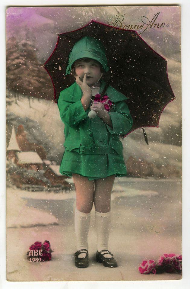 C 1930 французский деко красивая маленькая девочка Модный ребенок гламур фото открытка | eBay