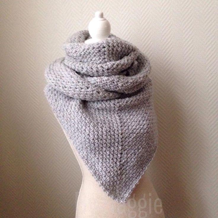 Punt sjaal in granietsteek