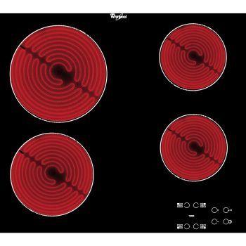 Plita incorporabila Whirlpool AKT 8090, Vitroceramica, 4 Zone de gatit, 60 cm