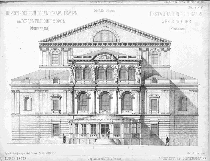 Architecture Illustrations Daken Architectural Drawings Outlines Facades Buildings Classical Facade