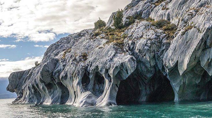 Las magníficas cavernas de mármol del lago General Carrera, Chile. Foto: Rita Willard.