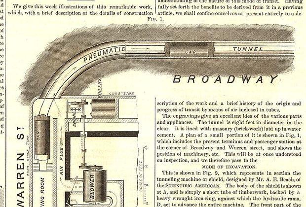 Американская система имела в длину всего 95 метров и работала скорее как аттракцион. Через четыре года после постройки, в 1873 году, пневматическую дорогу закрыли. В 1898 году здание, где находилась станция, сгорело при пожаре, а в 1912-м тоннель случайно обнаружили при строительстве метро вместе с забытым в нем вагончиком.
