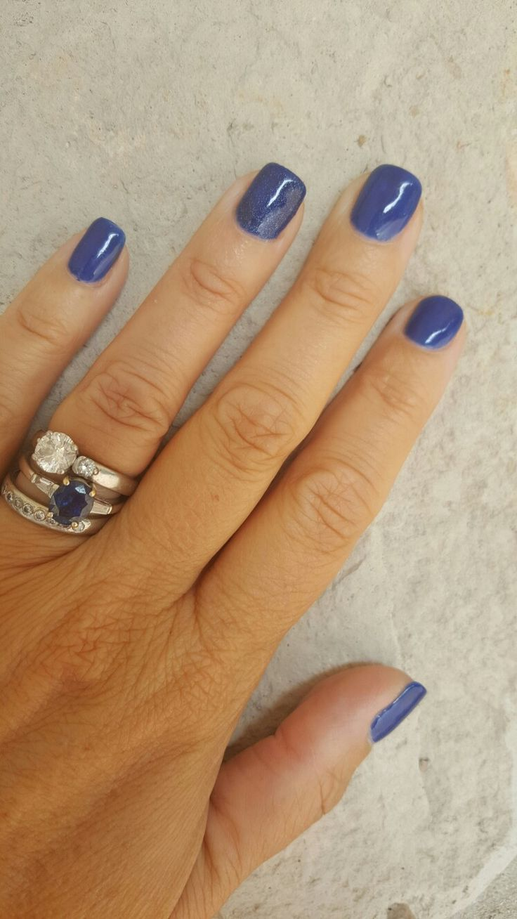 Navy glitter nails | Nails | Pinterest | Glitter nails, Manicure and ...
