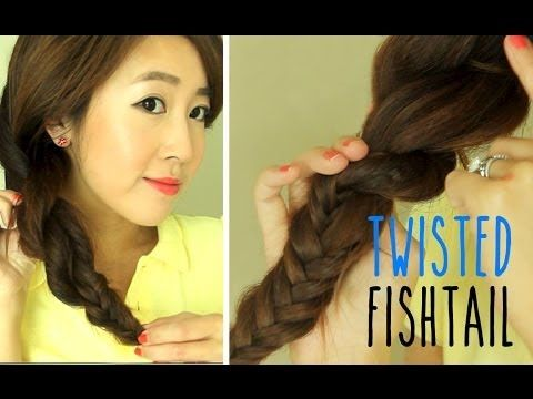▶ Hairstyle for School: Twisted Fishtail Braid - YouTube