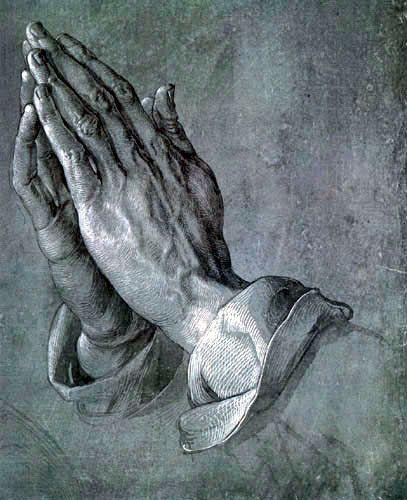DÜRER Albrecht  Mains en prières (1508)
