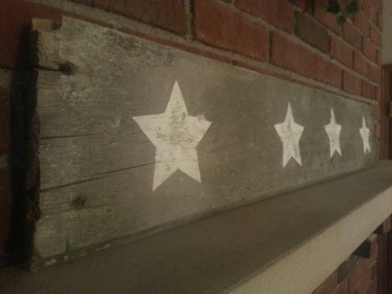 Old Barn Wood Wall Hanging, Americana Decor. $34.99, via Etsy.