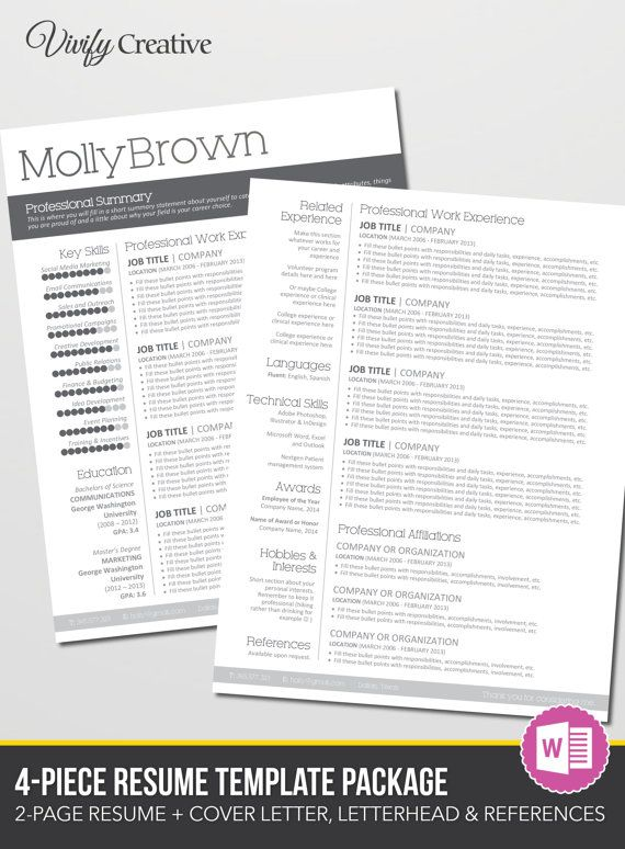 Best 25+ Resume template download ideas only on Pinterest - resume ms word format