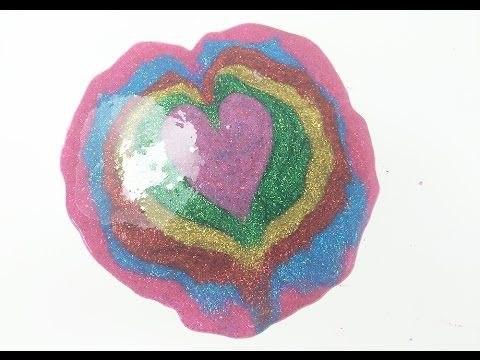 How To Make Glitter Rainbow Colors Slime