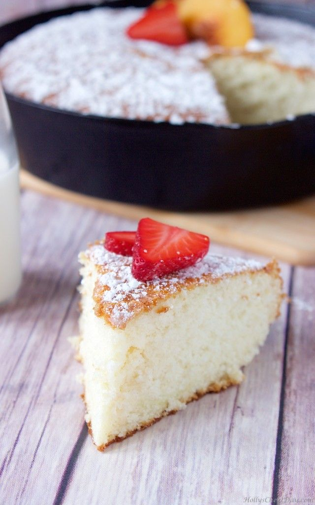 old-southern-sugar-cake| HollysCheatDay.com Light and fluffy, this cake is subtly sweet and so easy to make.