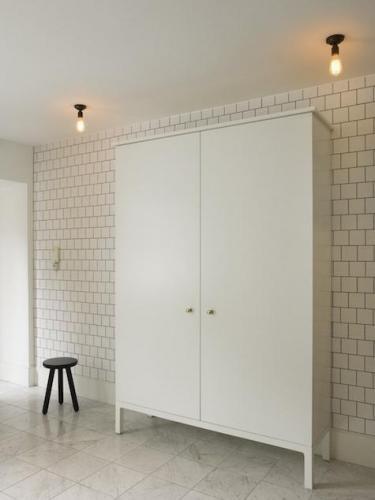 Tile wall.