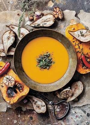 Kurpitsa-päärynäsosekeitto Karita Tykkää -palstalla.  Pumpkin and pear soup recipe from my blog