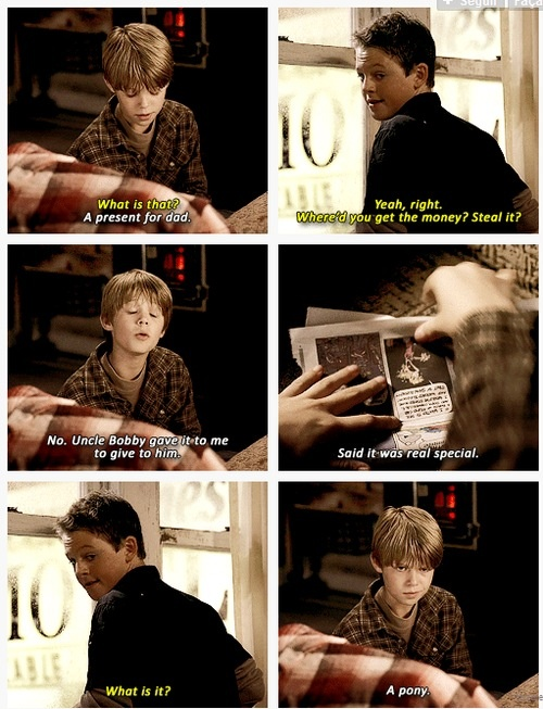I love Sam sometimes. Remember lollipops and candy canes? 3x08 A Very Supernatural Christmas