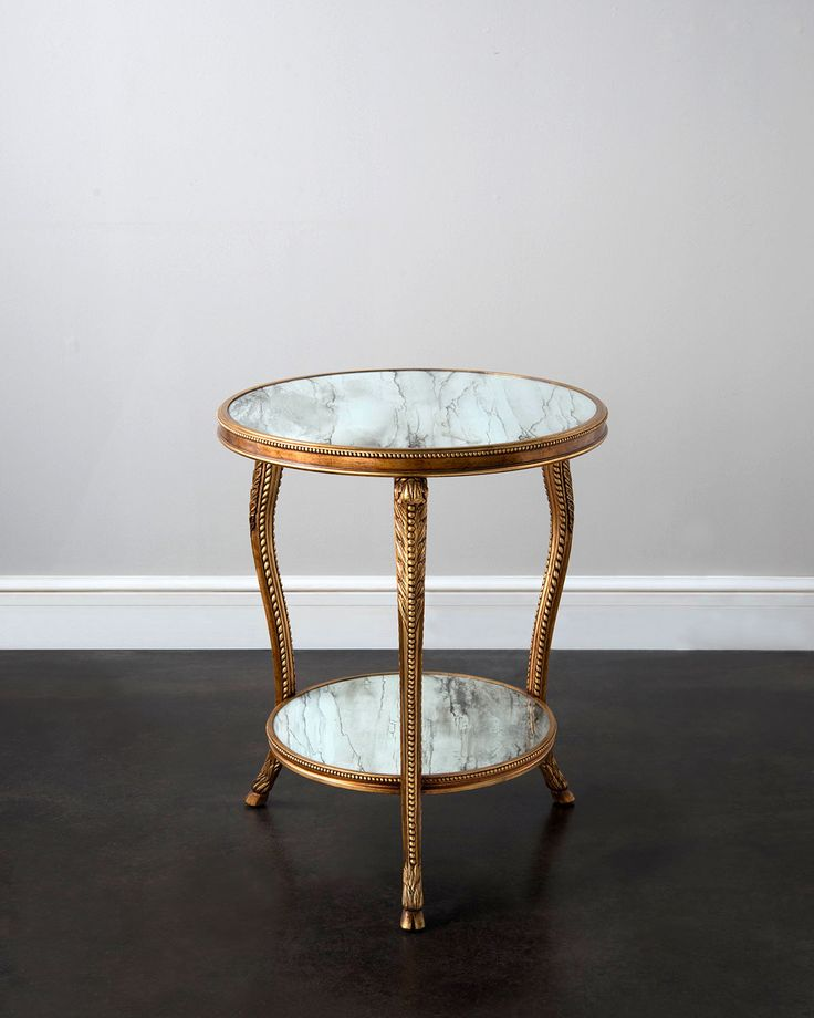 Panthea Side Table, Gold