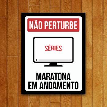 Placa Decorativa Maratona Em Andamento