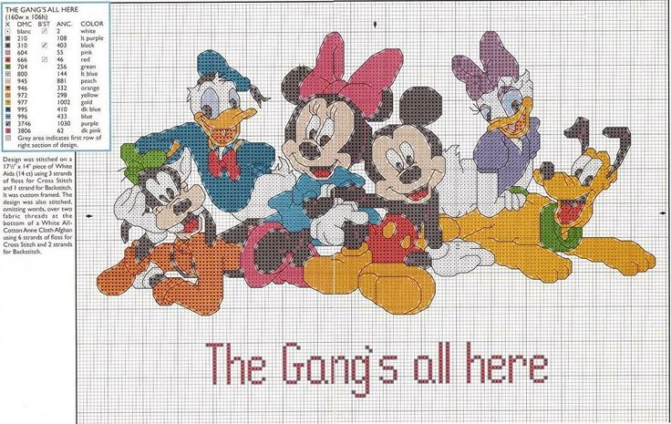 cross stitch children graphics - Disney