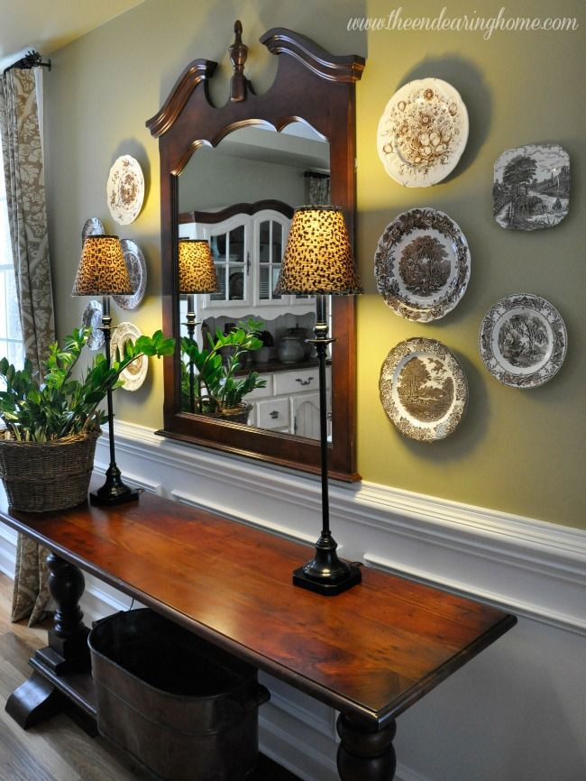 17 best images about decorating with plates on pinterest for Kitchen display wall