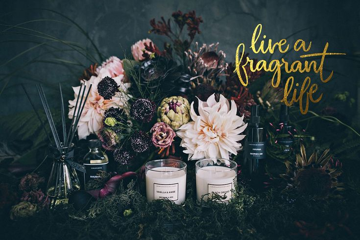 Life A Fragrant Life - Hand lettered tagline from Brave + Brogue