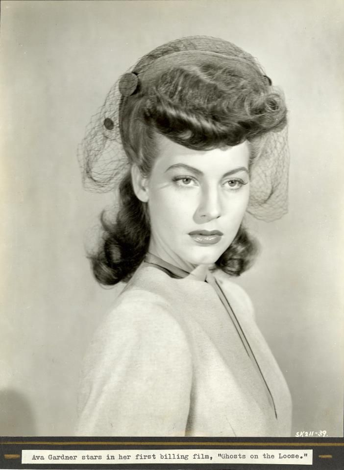 Ava's publicity still for one of her first feautures - Classic Hollywood Central