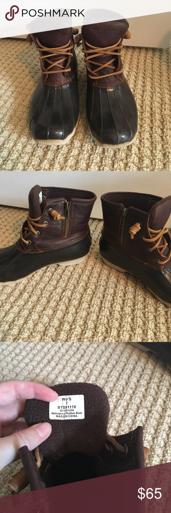 Sperry Saltwater Duck Boots Gently used Sperry Top-Sider Shoes Winter & Rain Boots