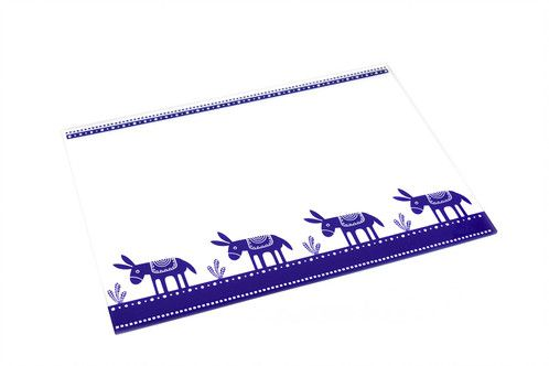 Donkey | plexiglass placemat | screenprinted & lazer cutted | designed and made in Greece