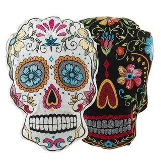 Shop for 2 Piece Sugar Skulls Throw Pillow Set. Free Shipping on orders over $45 at Overstock.com - Your Online Home Decor Outlet Store! Get 5% in rewards with Club O! - 24357695