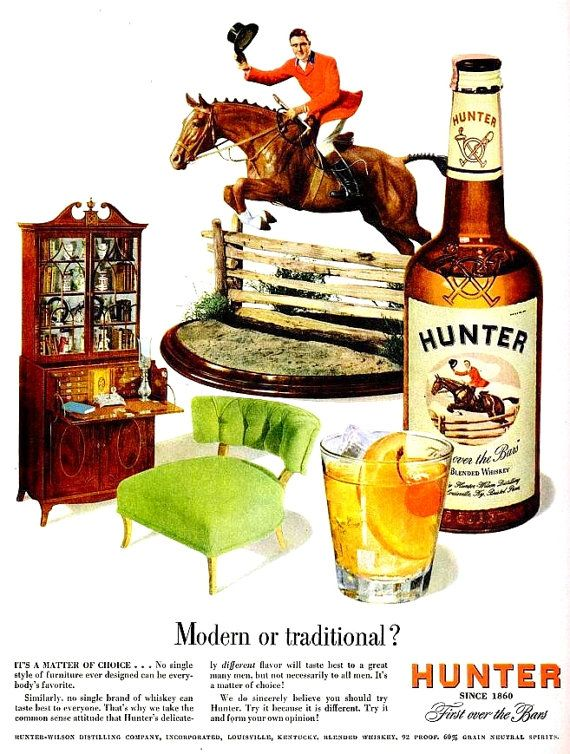 1949 Hunter Liquor & World Book Encyclopedia Advertisement Ads Print Poster Sign Alcohol Liquor Bartender Bar Pub Tavern Wall Art Home Decor