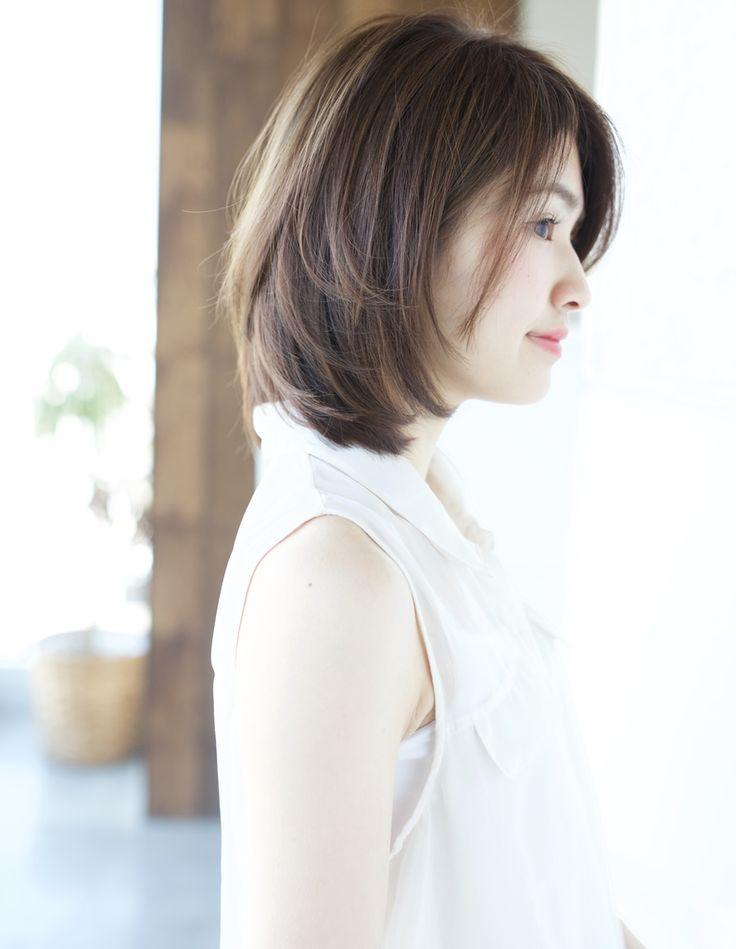 横顔も綺麗なひし形シルエット(KY-142) | ヘアカタログ・髪型・ヘアスタイル|AFLOAT(アフロート)表参道・銀座・名古屋の美容室・美容院