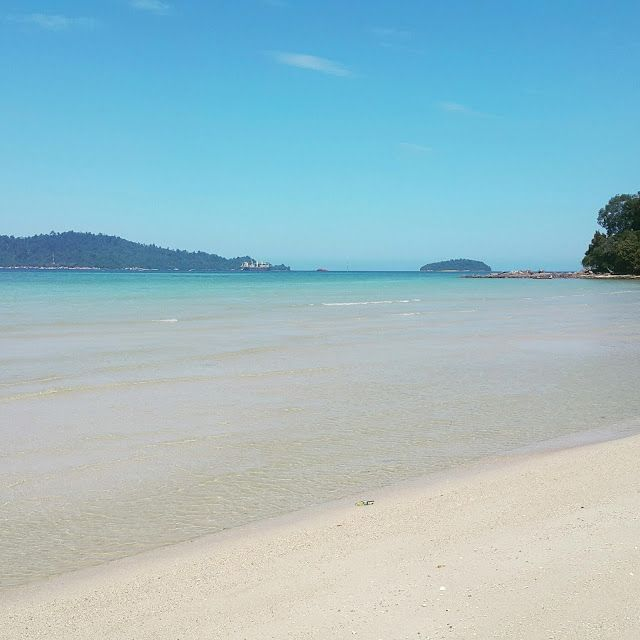 What a lovely white sands and clear water beach. Only at ODEC, UMS