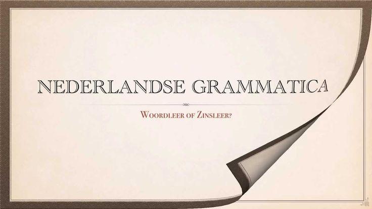 Spiegel de klas: Nederlands: grammatica