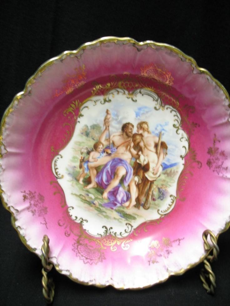 Royal Bavarian. Pink bowl. The Temptation of Hercules.