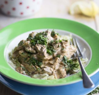 Creamy Chicken and Mushroom Casserole with Bacon and Spinach | Real Meal Revolution
