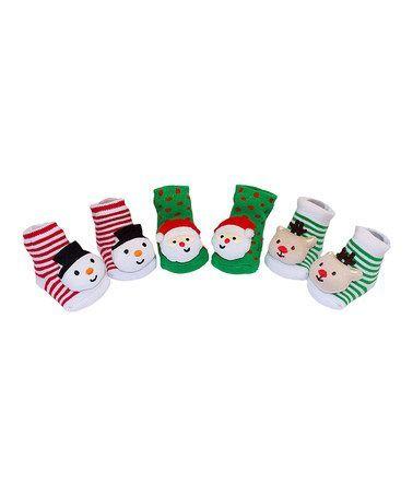 Green & Red Christmas Socks Set - Infant