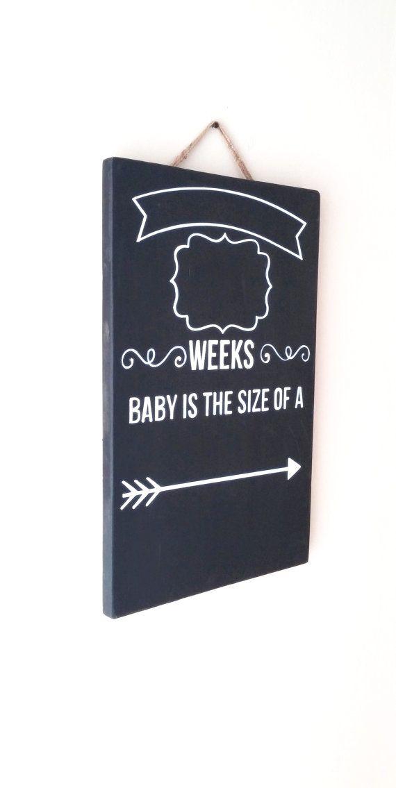 Pregnancy Weekly Progress/Due Date Countdown Chalkboard by EllisonMade, $36.00