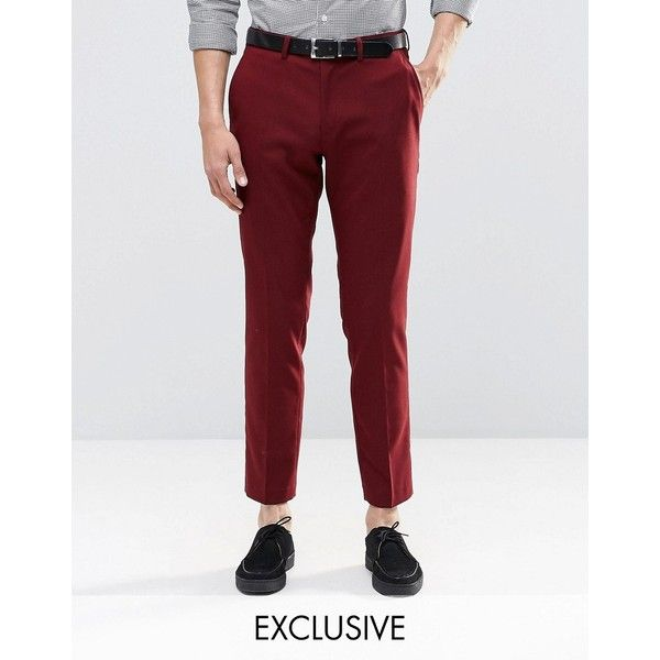 Red dress pants large