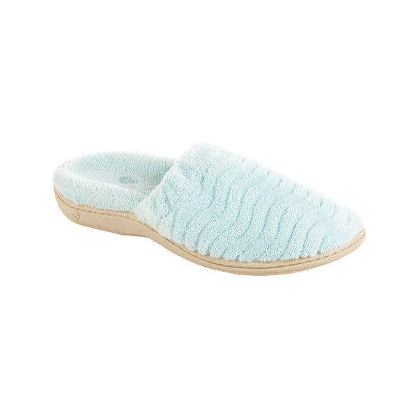 Women's Acorn Spa Support Scuff - Mint Casual ($50) ❤ liked on Polyvore featuring shoes, sneakers, casual, comfort slippers, green, mint shoes, acorn footwear, rubber sole shoes, acorn shoes and wrap shoes