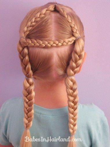 Got a toddler or elementary school child learning her alphabet?  Make it funner with alphabet hairstyles!  BabesInHairland.com has the entire alphabet from A-Z! #abc #alphabet #hair #braids #hairstyles #toddler #kindergarten #learning #alphabethair