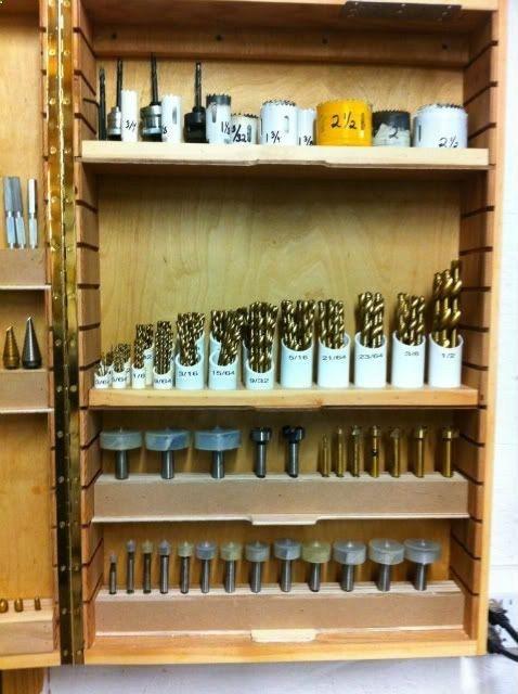 Drill Bit Storage Cabinet.