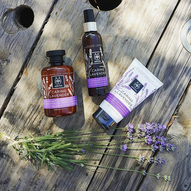 Caring #lavender is the new #apivita body care line for the special treatment of the sensitive skin. With greek lavender and #olive oil, the full range consists of shower gel, body cream and a nourishing body oil #apivitaexperience #summeressentials #sensitiveskin #greekherbs #madeingreece #APIVITA #naturalproducts #cosmetics #beauty
