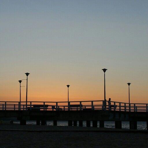 #sunset #beach #Brzeźno